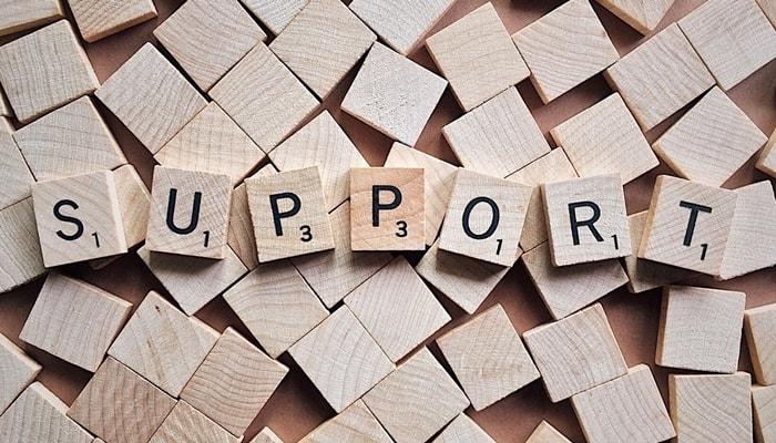 シンプルなサポート体系